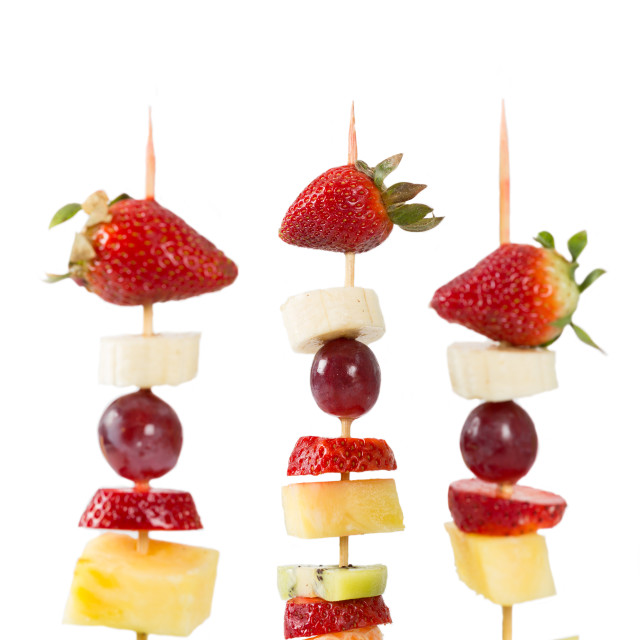 """Fruit skewers"" stock image"