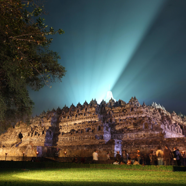 """Holy Night at Borobudur Temple"" stock image"