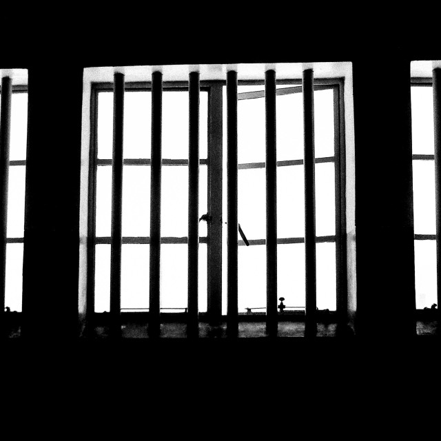 """Life Behind Bars"" stock image"