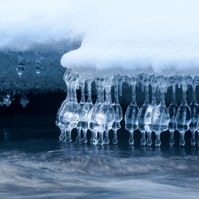 """The ice bar on the river"" stock image"