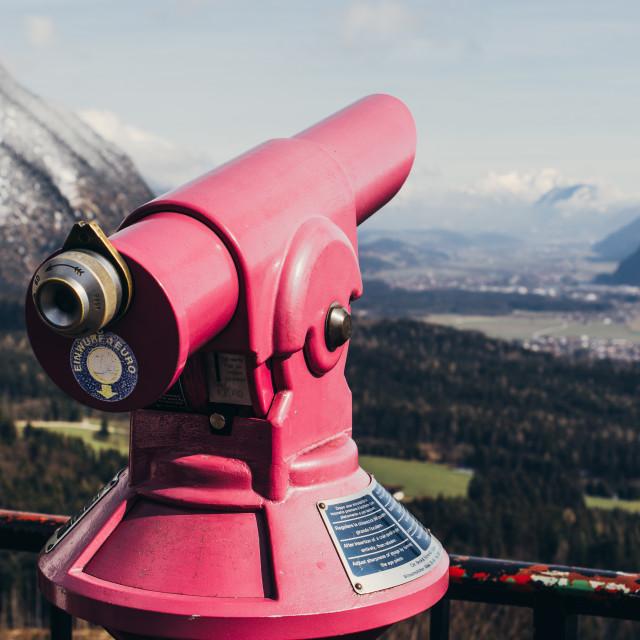 """Pink Mountain Telescope"" stock image"