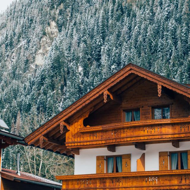 """Alpine Architecture"" stock image"