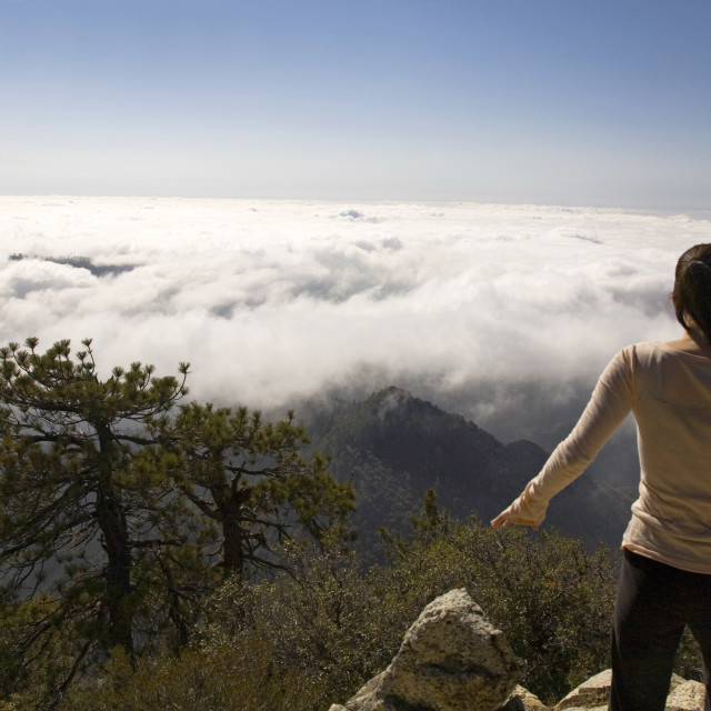 """""""ABOVE THE CLOUDS"""" stock image"""