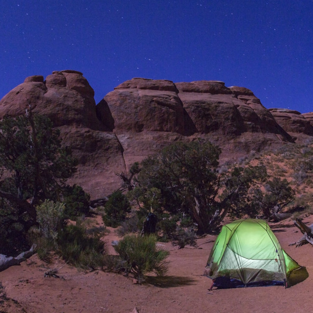 """Camping at Arches"" stock image"