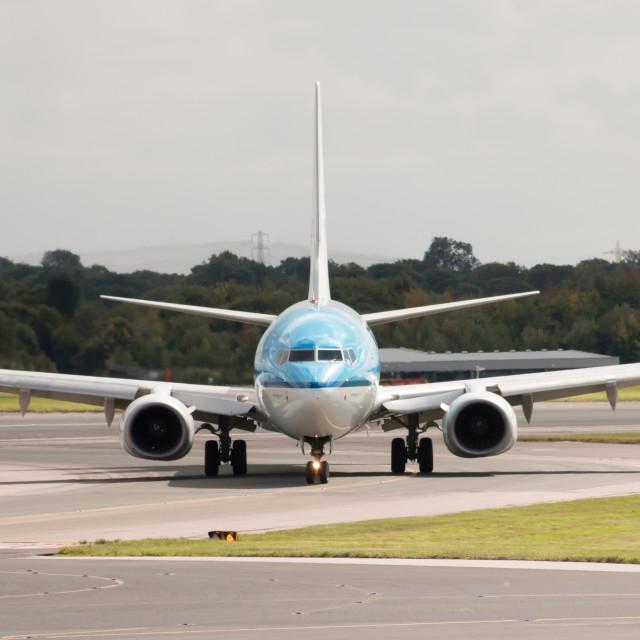 """KLM Boeing 737"" stock image"