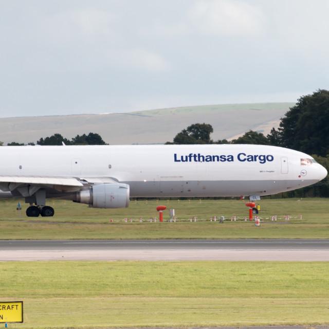 """Lufthansa Cargo MD-11"" stock image"