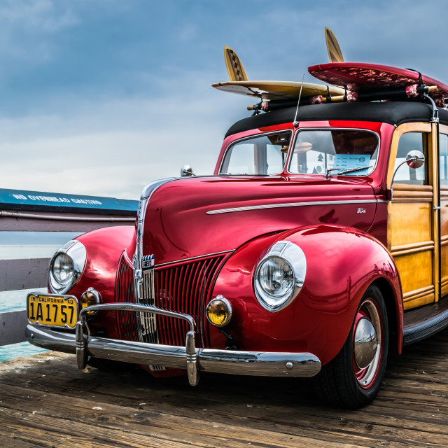"""""""Woody on a Pier"""" stock image"""