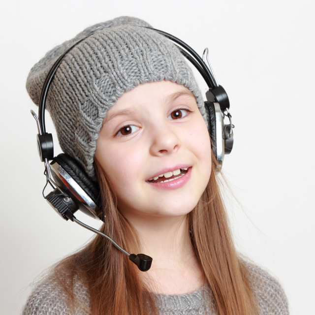 """Kid singing"" stock image"