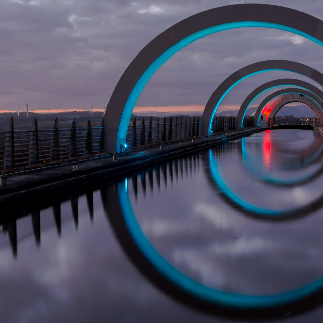 """The Falkirk Wheel"" stock image"