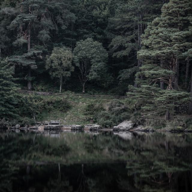 """""""Glendalough Upper Lake"""" stock image"""