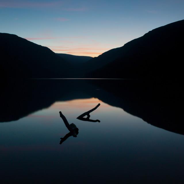 """""""Glenadalough Sunset"""" stock image"""