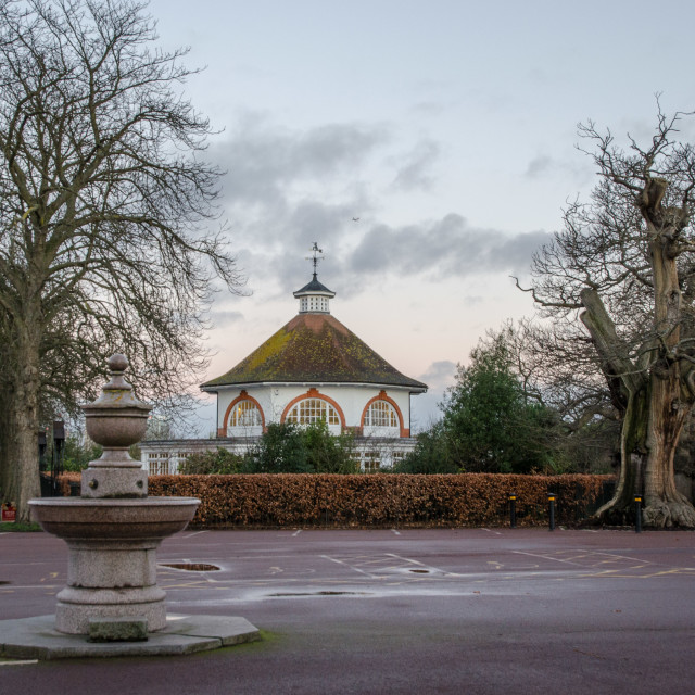"""Greenwich Park pavilion"" stock image"