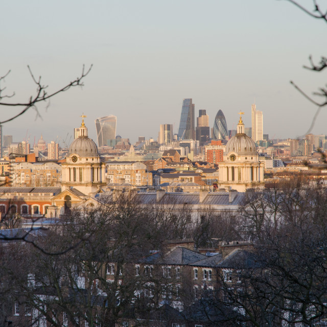 """Greenwich Park view"" stock image"