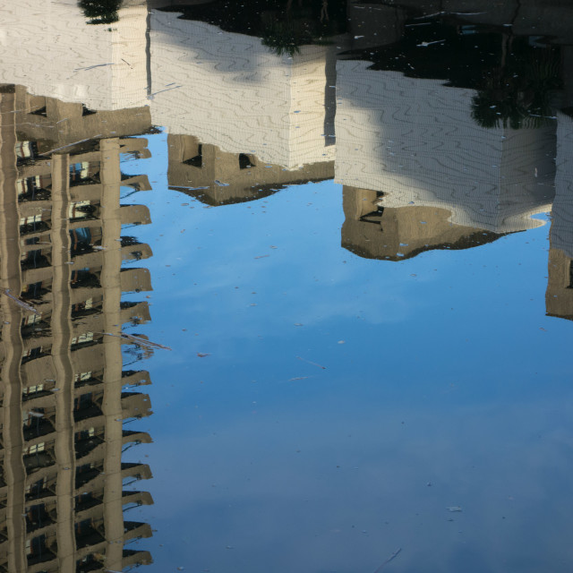 """Barbican reflections"" stock image"