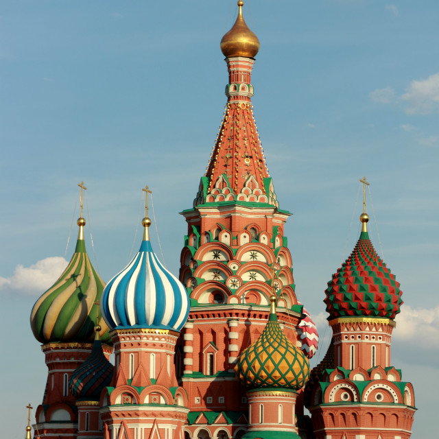 """St. Basil's cathedral on Red Square of Moscow"" stock image"