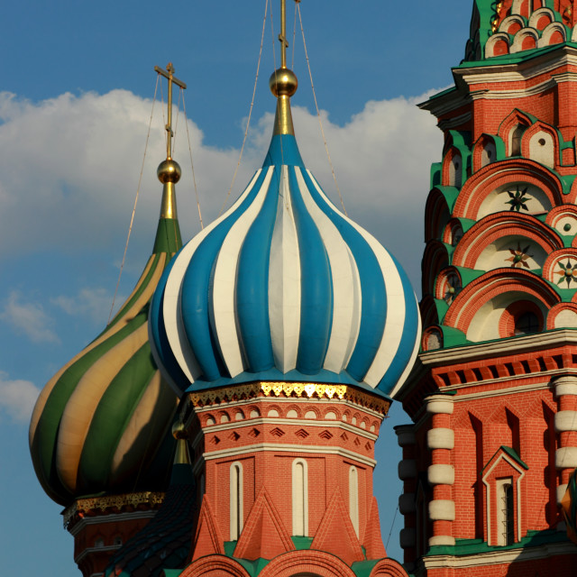 """""""St. Basil's cathedral on Red Square of Moscow"""" stock image"""