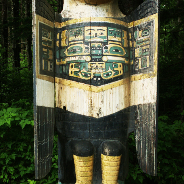 """Totem pole."" stock image"