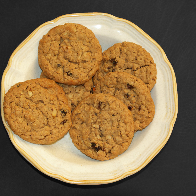 """""""Plate of cookies."""" stock image"""