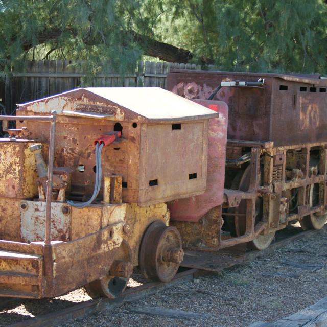 """Mining train."" stock image"