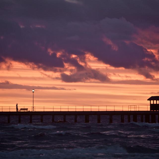 """Sunset Beach scene"" stock image"