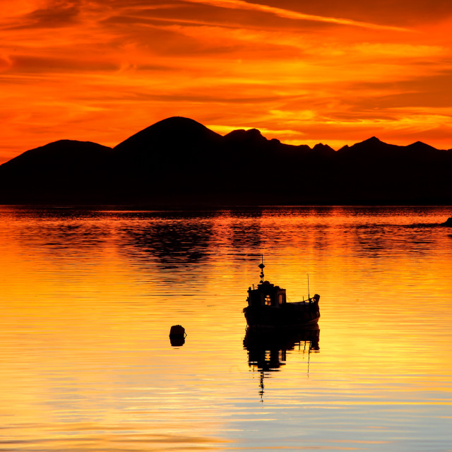 """A Skye sunset"" stock image"