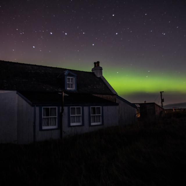 """Aurora over Skye"" stock image"