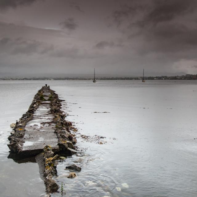 """A ruined jetty, Isle of Skye"" stock image"