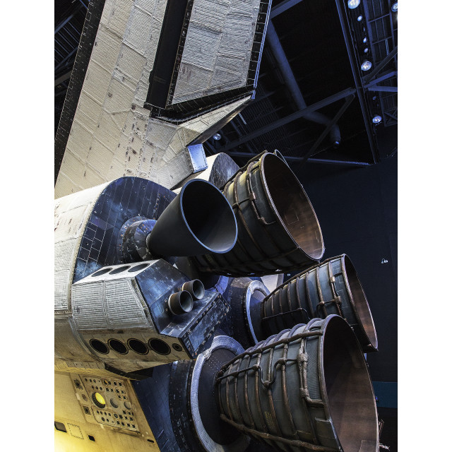 """""""Space Shuttle Engines"""" stock image"""