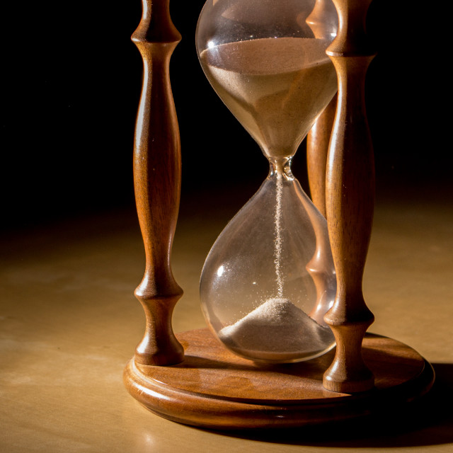 """""""Time is running"""" stock image"""