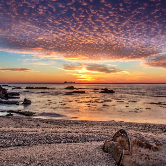 """""""sunrise over the sea"""" stock image"""