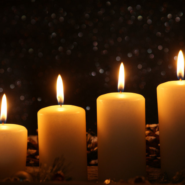 """Advent candles"" stock image"