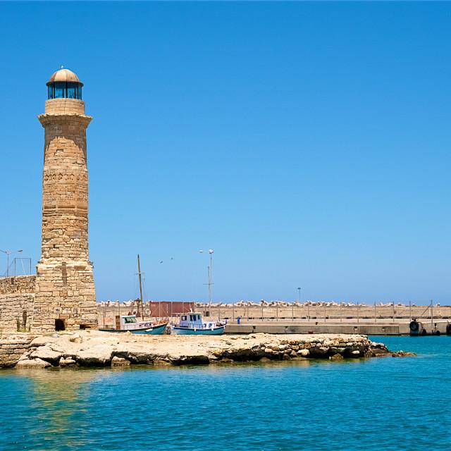 """A lighthouse in Creta"" stock image"