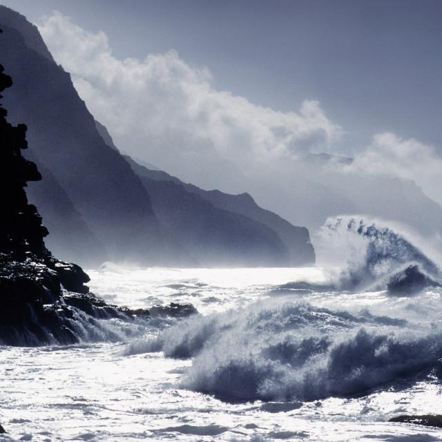 """""""Kanapali coast, Kuai, Hawaii"""" stock image"""