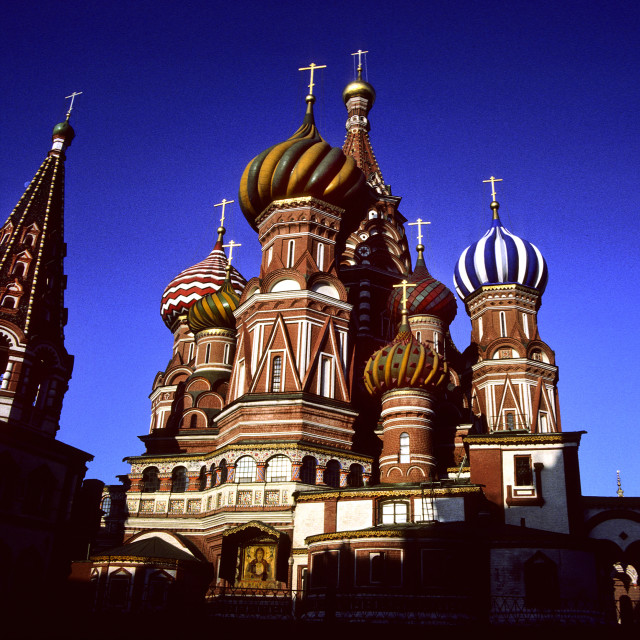 """Saint Basil's Cathedral, Moscow, Russia"" stock image"