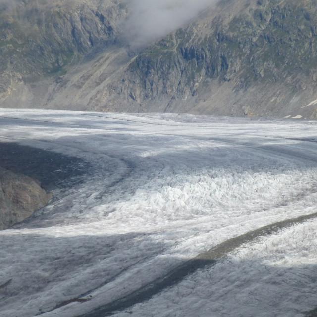 """""""Great Aletsch Glacier"""" stock image"""