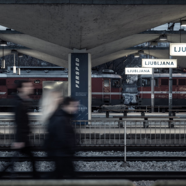 """Ljubljana train station"" stock image"