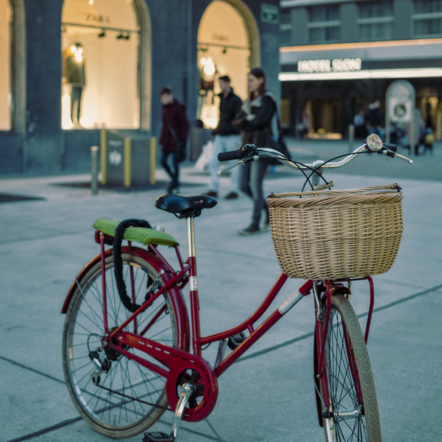"""Retro city bicycle"" stock image"