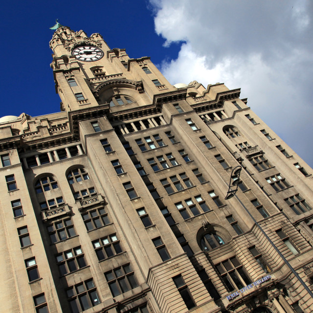"""Royal Liver Building Abstract"" stock image"