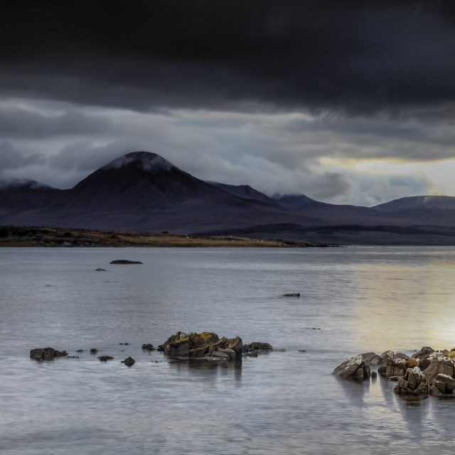 """Beinn na Caillich Isle of Skye"" stock image"