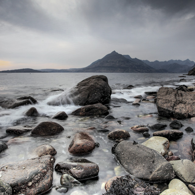 """The Cuillin from Elgol"" stock image"