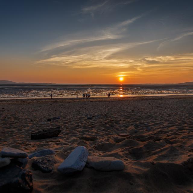 """Llanelli beach"" stock image"