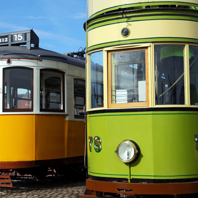"""Wallasey Corporation Tram & Lisbon Tram"" stock image"