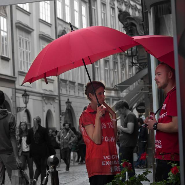 """Prague street"" stock image"