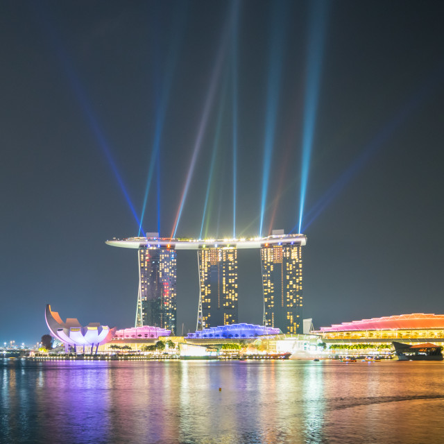 """Singapore City Night View"" stock image"