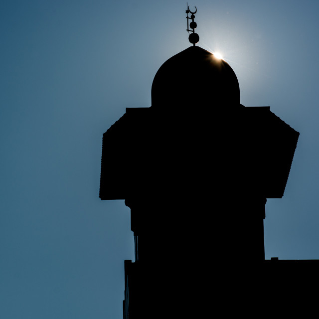 """""""Mosque silhouette"""" stock image"""