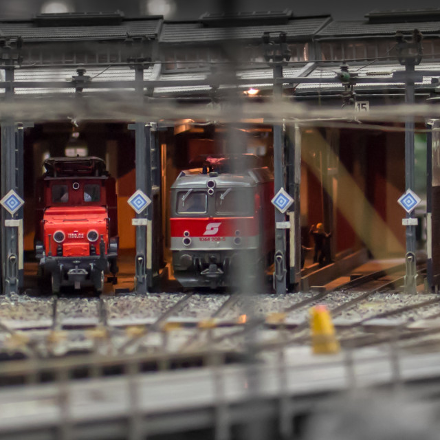 """""""Model of railways in the exhibition"""" stock image"""
