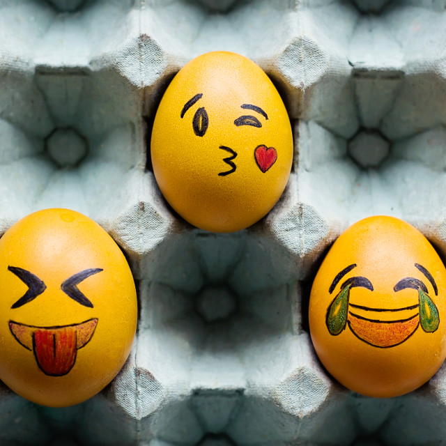 """""""Emoticons easter eggs"""" stock image"""