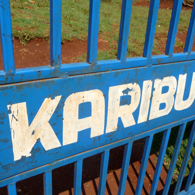 """Karibu"" stock image"