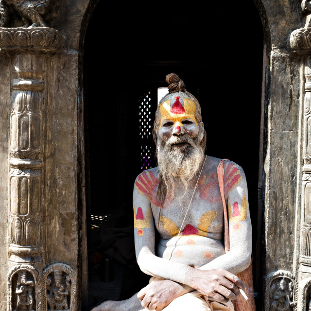 """Sadhu of Pashupatinath"" stock image"