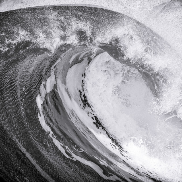 """Black and White Wave"" stock image"